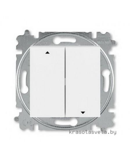 Выключатель жалюзи двухклавишный ABB Levit без фиксации клавиш белый / ледяной 3559H-A88445 01W