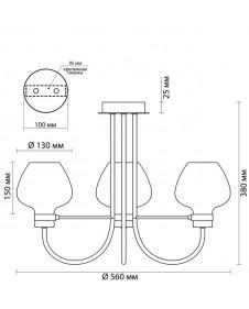 Люстра потолочная Lumion ILONA 3708/3C