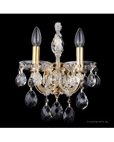 Бра Crystal Lux ISABEL AP2 GOLD/TRANSPARENT 2080/402