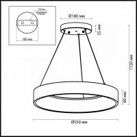 Светильник подвесной Odeon SOLE 4066/50L