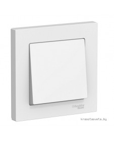 Выключатель одноклавишный Schneider Electric ATLASDESIGN белый в сборе ATN000112