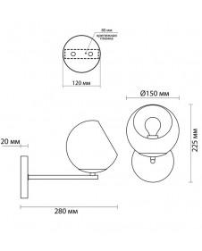 Бра, настенный светильник Lumion BLAIR 3769/1W