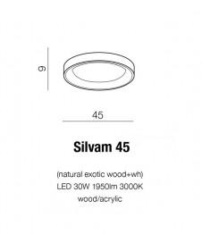 Потолочный светильник Azzardo SILVAM 45 AZ2697