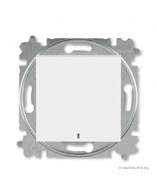 Выключатель одноклавишный с подсветкой ABB Levit белый / ледяной 3559H-A01446 01W