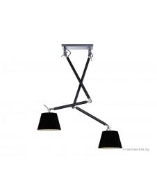 Светильник AZZARDO ZYTA 2 S BLACK PENDANT  MD2300-2S BK
