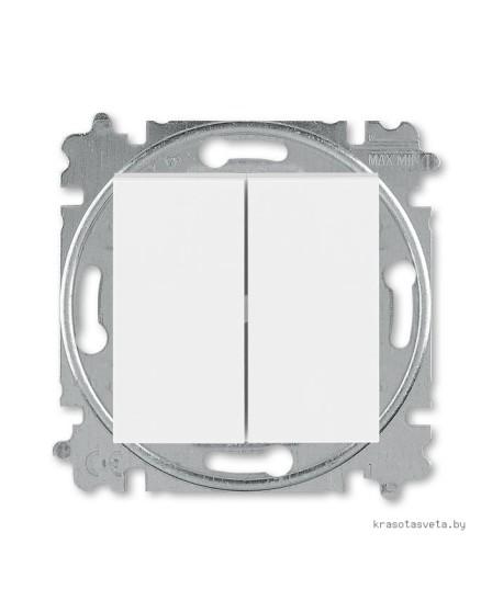 Выключатель двухклавишный ABB Levit белый / ледяной 3559H-A05445 01W