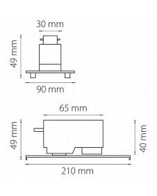 Трековое креплением с 1-фазным адаптером к 05122X белый LIGHTSTAR ASTA 592046