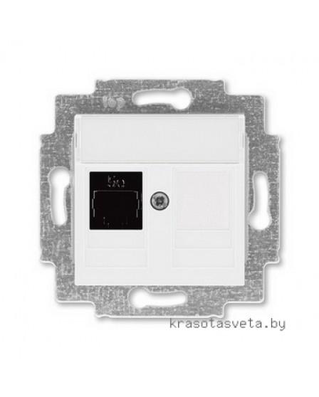 Розетка информационная ABB Levit RJ45 категория 5e и заглушка белый 5014H-A51017 03W