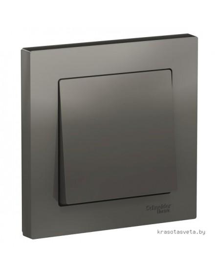 Выключатель одноклавишный Schneider Electric ATLASDESIGN стальной в сборе ATN000912