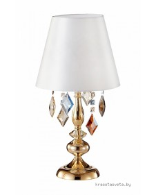 Настольная лампа Crystal Lux MERCEDES LG1 GOLD/COLOR 0951/501