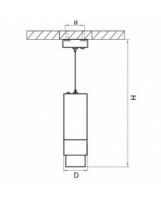 Светильник подвесной Lightstar Fuoco 115036