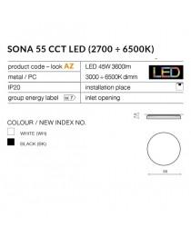 Потолочный светильник Azzardo SONA 55 CCT AZ2764