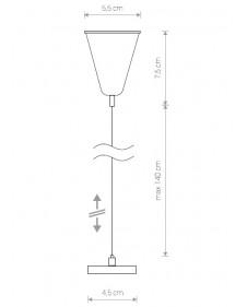 Трековый светильник Nowodvorski PROFILE SUSPENSION KIT Подвес для шинопровода 9461