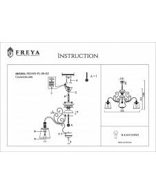 Люстра подвесная/потолочная Freya Driana FR2405-PL-08-BZ