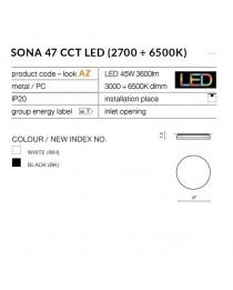 Потолочный светильник Azzardo SONA 47 CCT AZ2762