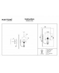 Бра Maytoni Vittoria H005WL-01BG