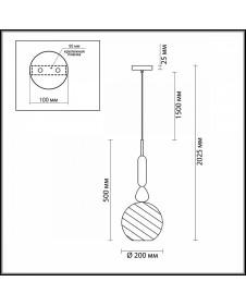 Светильник подвесной Odeon BELLA 4648/1