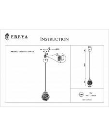 Светодиодный подвесной светильник FREYA ISABEL FR6157-PL-9W-TR