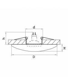 Встраиваемый светильник Lightstar CERAMO 042122