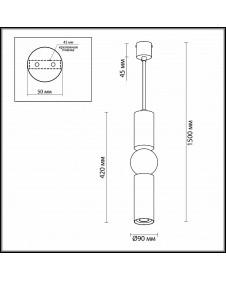 Светильник подвесной Odeon SAKRA 4071/5L