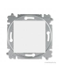Выключатель кнопочный одноклавишный ABB Levit белый / ледяной 3559H-A91445 01W