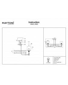 Люстра потолочная Maytoni Vittoria H004CL-05BG