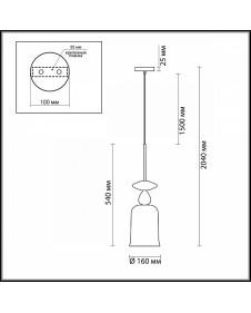 Светильник подвесной Odeon BELLA 4646/1