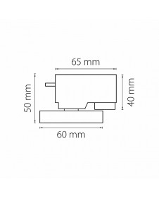 Трековое креплением с 1-фазным адаптером к 05104X белый LIGHTSTAR ASTA 592076