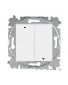 Выключатель жалюзи двухклавишный ABB Levit с фиксацией клавиш белый / ледяной 3559H-A89445 01W
